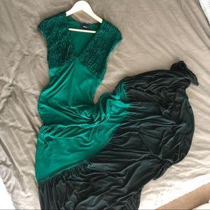 Emerald Green Ombré Maxi Dress | Sky Clothing